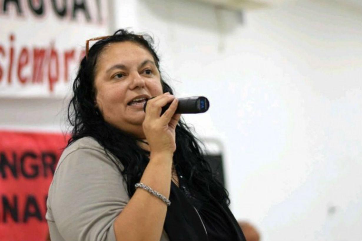 Susana Cogno, titular de AGMER Paraná.