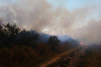 Un hombre quemó basura y desató un incendio que abarcó 19 hectáreas