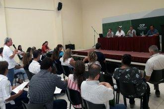 En reunión con gremio docente, repasaron las obras de refacción a escuelas de Concordia