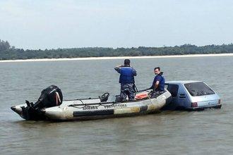 En terapia intensiva, tras sumergirse con su auto en aguas del río Uruguay