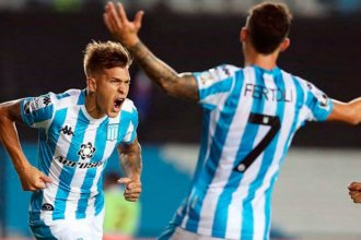 """El gol entrerriano y el """"hincha"""" solitario, los protagonistas de la segunda victoria de Racing por Copa Libertadores"""