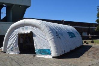 Emergencia por el coronavirus: el hospital Masvernat incorpora carpas sanitarias