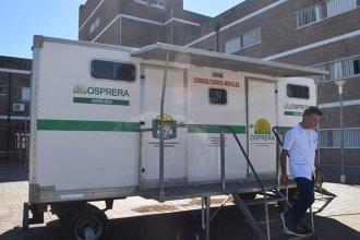 Con el aporte de OSPRERA, duplicaron la capacidad de atención de la carpa sanitaria