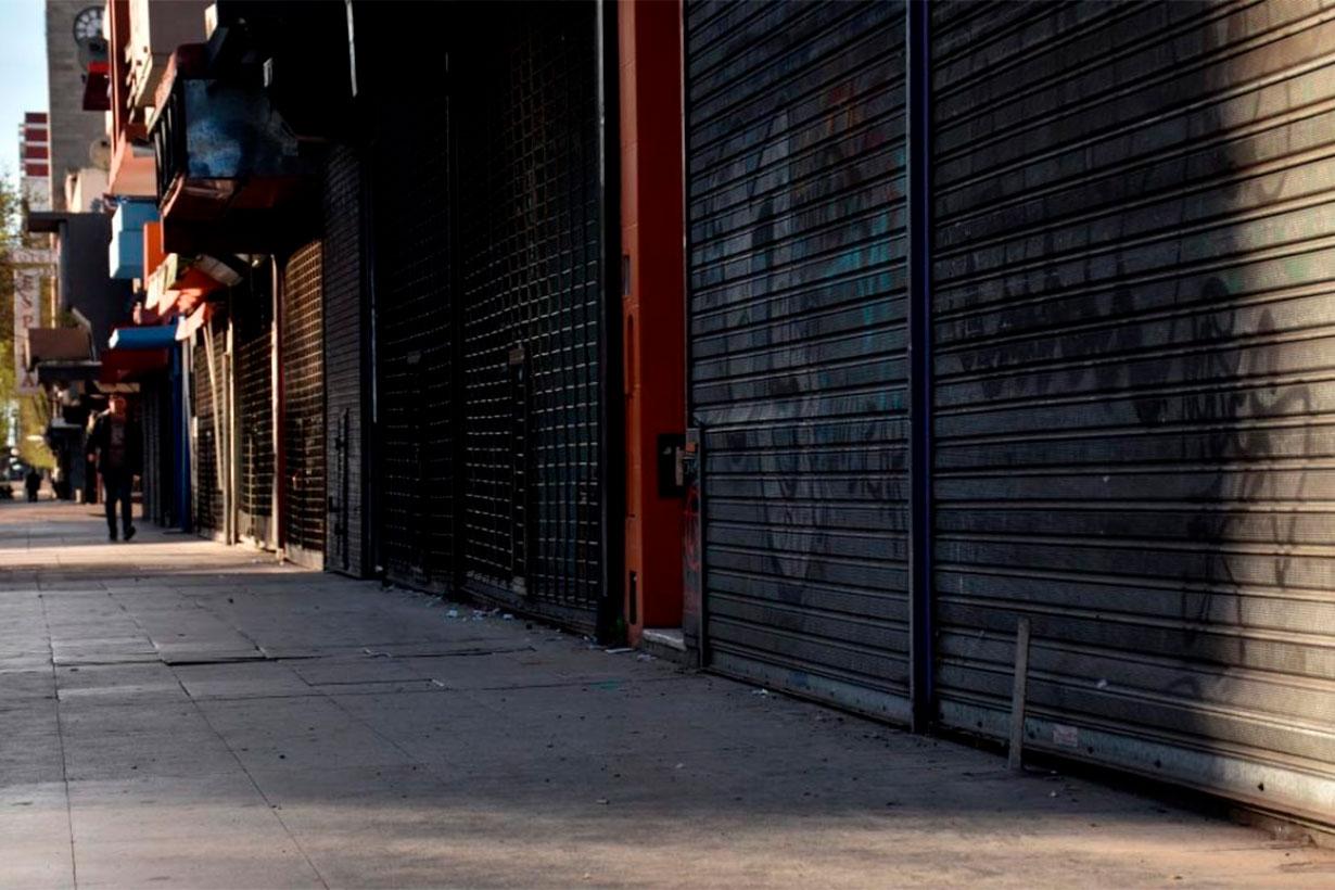 Comercios cerrados por la cuarentena