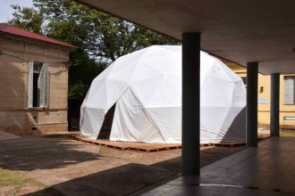 En imágenes, el domo instalado para reforzar la atención en el hospital de Colón