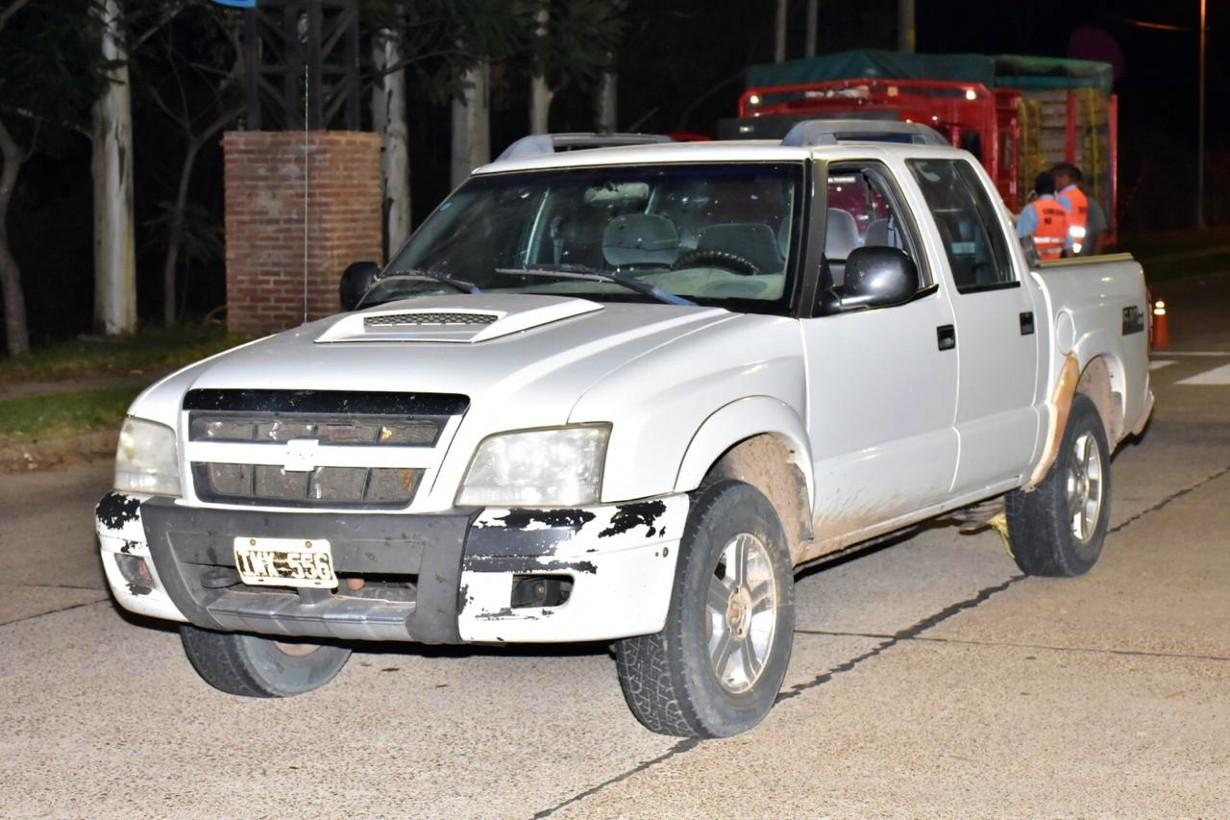 Esta camioneta le secuestraron al hombre.