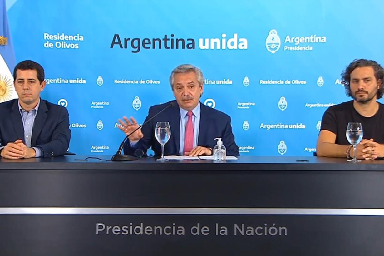 Conferencia de prensa desde Olivos
