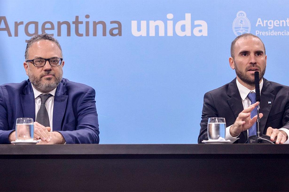 Ministros Kulfas y Guzman
