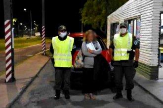Se negó a los controles de forma violenta y fue detenida