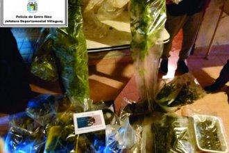 Cocaína, marihuana, armas y un detenido: el resultado de allanamientos en ciudad de la provincia