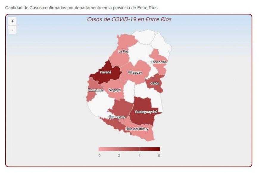El mapa del coronavirus en Entre Ríos - Noticias - Elentrerios.com