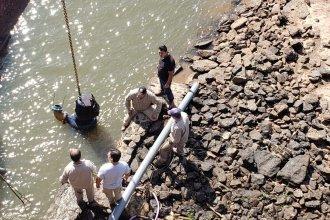 Por la bajante del río, instalaron una bomba complementaria en Concordia