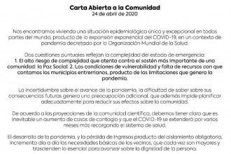 Para los intendentes del departamento Colón, dos puntos reflejan la complejidad de la emergencia sanitaria
