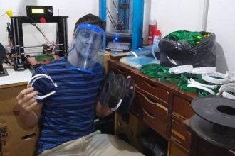 Una escuela técnica entrerriana fabricó y entregó más de 400 máscaras de protección facial