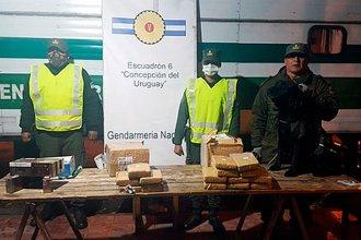 Incautaron encomiendas con más de 14 kilos de marihuana en la Autovía Artigas