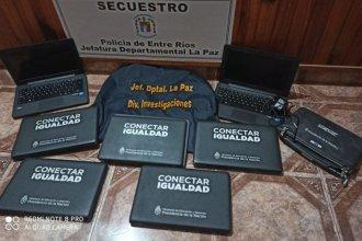 La Policía recuperó 9 de las 11 notebooks robadas en una escuela entrerriana