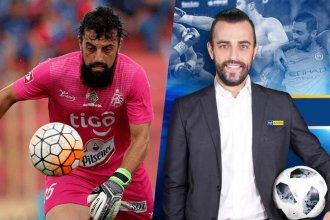 El ex arquero de club entrerriano que juega y es periodista deportivo en El Salvador