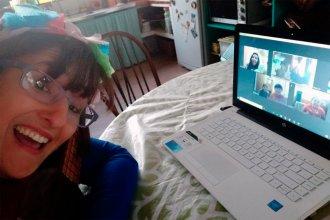 Dirigir un coro infantil por Zoom: el desafío de una docente sanjosesina en tiempo de cuarentena