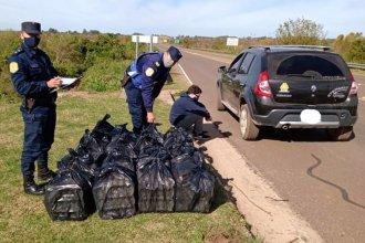 Atraparon a presunto empleado infiel con su vehículo lleno de mercadería