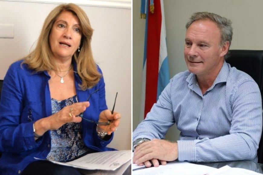 Ministra e intendente hablaron de la cuarentena.