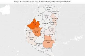 Los casos de dengue en la costa del río Uruguay quintuplican a los de COVID-19 de toda la provincia