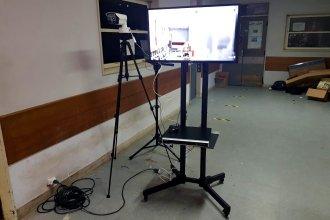 Hospital entrerriano incorporó un nuevo sistema de cámaras para medir la temperatura corporal del personal