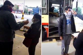 Video: así controlan a los pasajeros que arriban a la terminal, en la vuelta del transporte interurbano