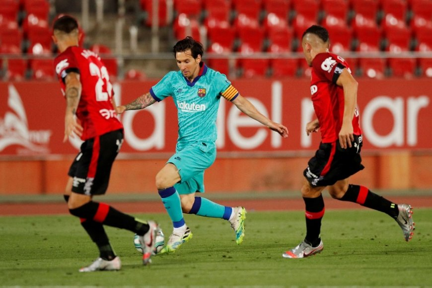 Lionel durante el partido vs Mallorca.