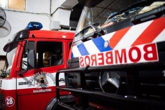 En horas de la madrugada, un camión que transportaba soja se incendió en plena Ruta 14