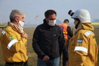 Nación pide a Bordet datos de los dueños de los campos incendiados en el Delta