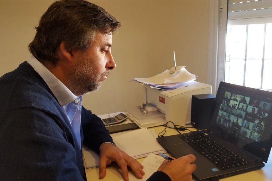 Mattiauda en una de las sesiones virtuales.