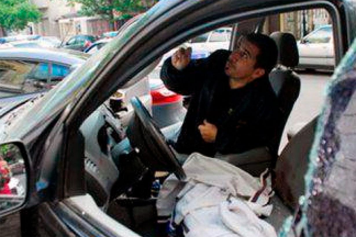 La camioneta en la que mataron a Julio Bereciartu