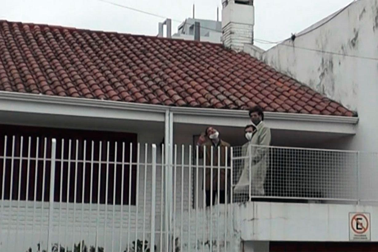 La inspección en la casa de Teresita Galli