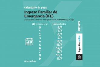 Empiezan a pagar el IFE de julio: conocé el calendario de pago dado por ANSES