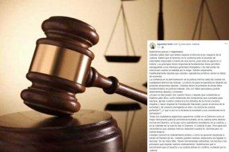 """Carta de Agustina Galli a los jueces: """"Si lo que exigimos les incomoda, renuncien al cargo"""""""
