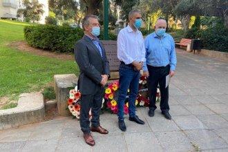 El atentado a la AMIA, conmemorado en una ciudad israelí con la presencia de Urribarri