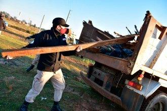 Intento de usurpación: con apoyo policial, desalojaron terrenos para inundados
