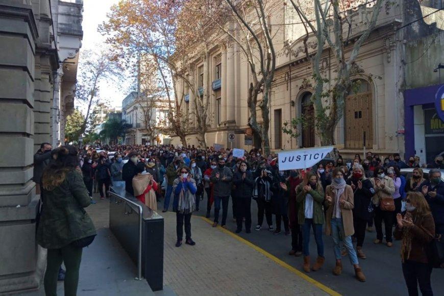 La marcha llegó hasta los Tribunales de Concordia.