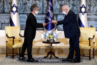 Con la expectativa de relanzar la relación bilateral, Urribarri fue recibido por el presidente de Israel