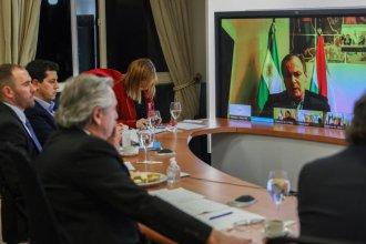 En reunión virtual con gobernadores, Fernández anunció la prórroga del IFE en todo el país