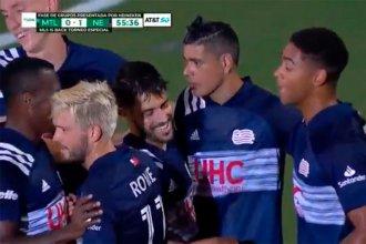 Un entrerriano suelto en USA: Gustavo Bou jugó en Florida y le dio la victoria a New England Revolution