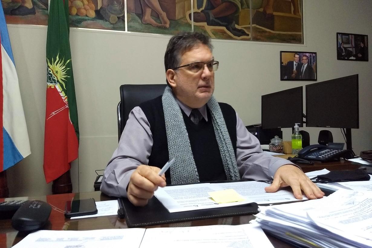 Francolini recibió a El Entre Ríos, en su despacho