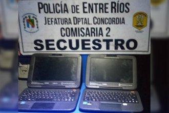 La policía recuperó dos de las notebooks que habían sido robadas de una escuela