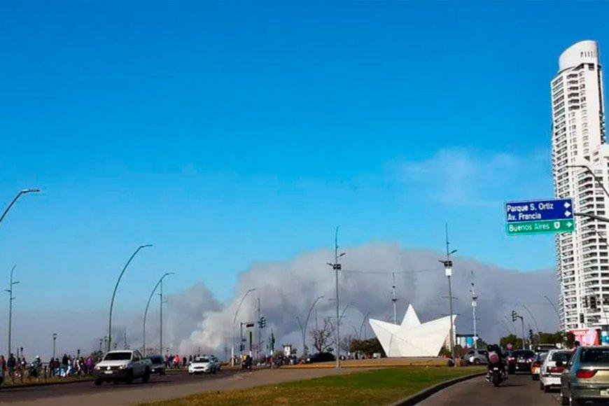 El humo, visto desde Rosario