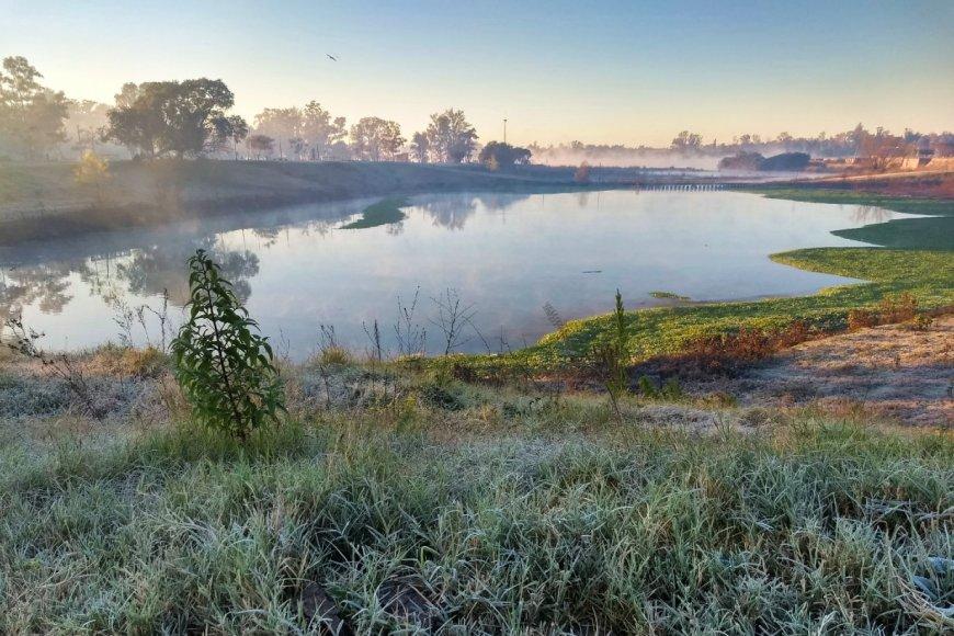 El arroyo Manzores, este jueves (foto: EER).