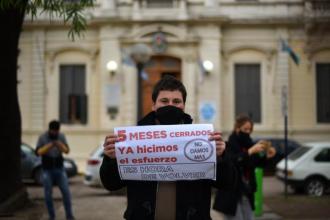 En ciudad entrerriana volvieron a manifestarse por la reapertura de los predios