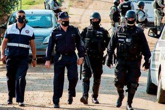 Más de 100 policías, un helicóptero y drones, durante un operativo anti drogas en la región de Salto Grande