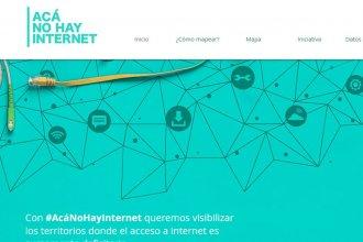 """Lanzaron la plataforma """"Acá NO hay internet"""", para hacer un mapeo de la falta de conexiones"""