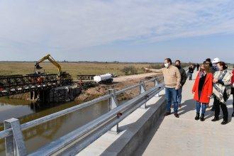 Bordet recorrió los nuevos puentes de Don Cristóbal, que reemplazarán un desvío provisorio de hace 20 años
