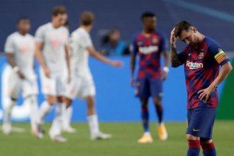 Festival de goles y triunfo histórico del Bayern sobre el Barcelona de Messi